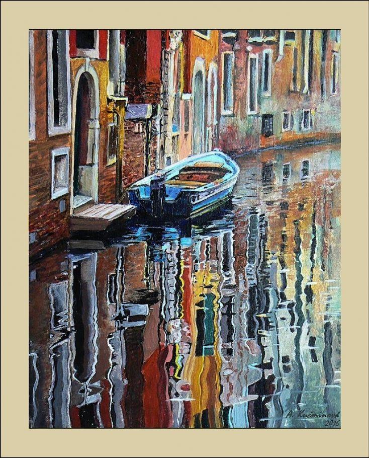 Benátky A4, akryl