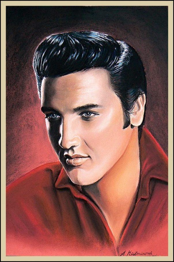Elvis Presley A3, umelecké kriedy _ 30,-€