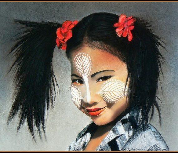 Maľby predaj obrazov - PORTRÉT DETI Farebné