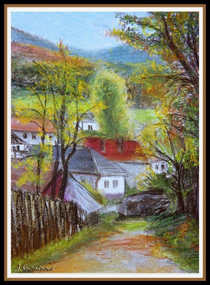 KOJŠOV, suchý pastel A3 _