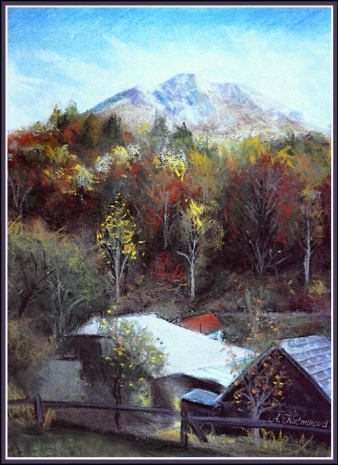 Kojšovský Folkmar, A3 suchý pastel (maľba z plenéru)