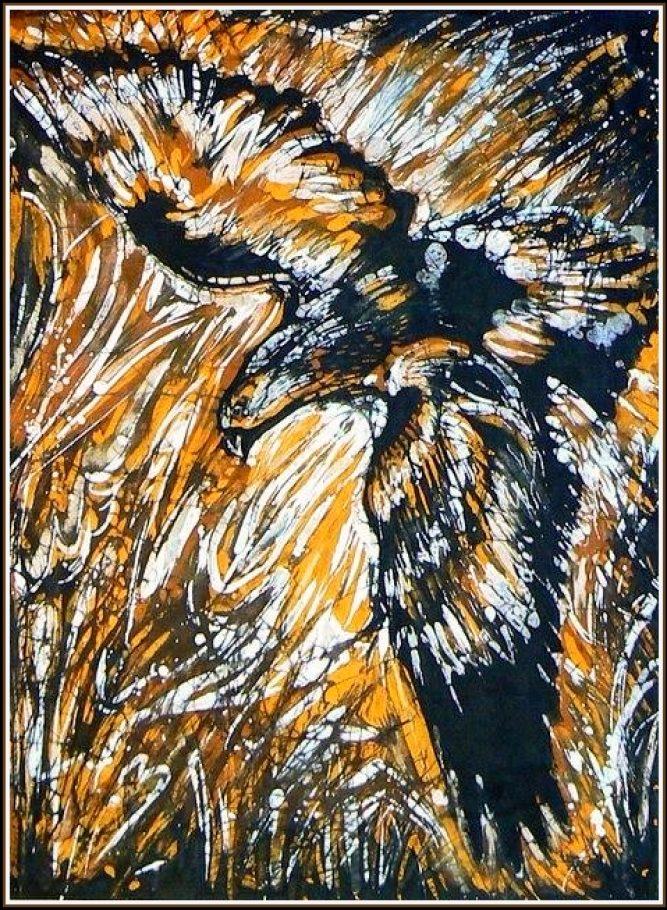 OROL A3, batika na hodváb