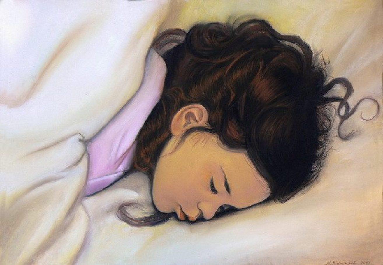 Spiace dieťa A2, suchý pastel na predaj 25,-€