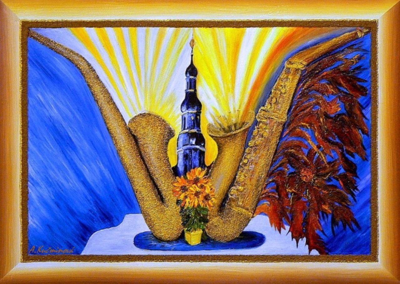 Symbolika života a smrti, 50x70, akryl