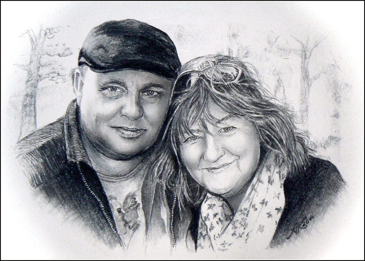 Zrelý manželia Obraz-Maľba