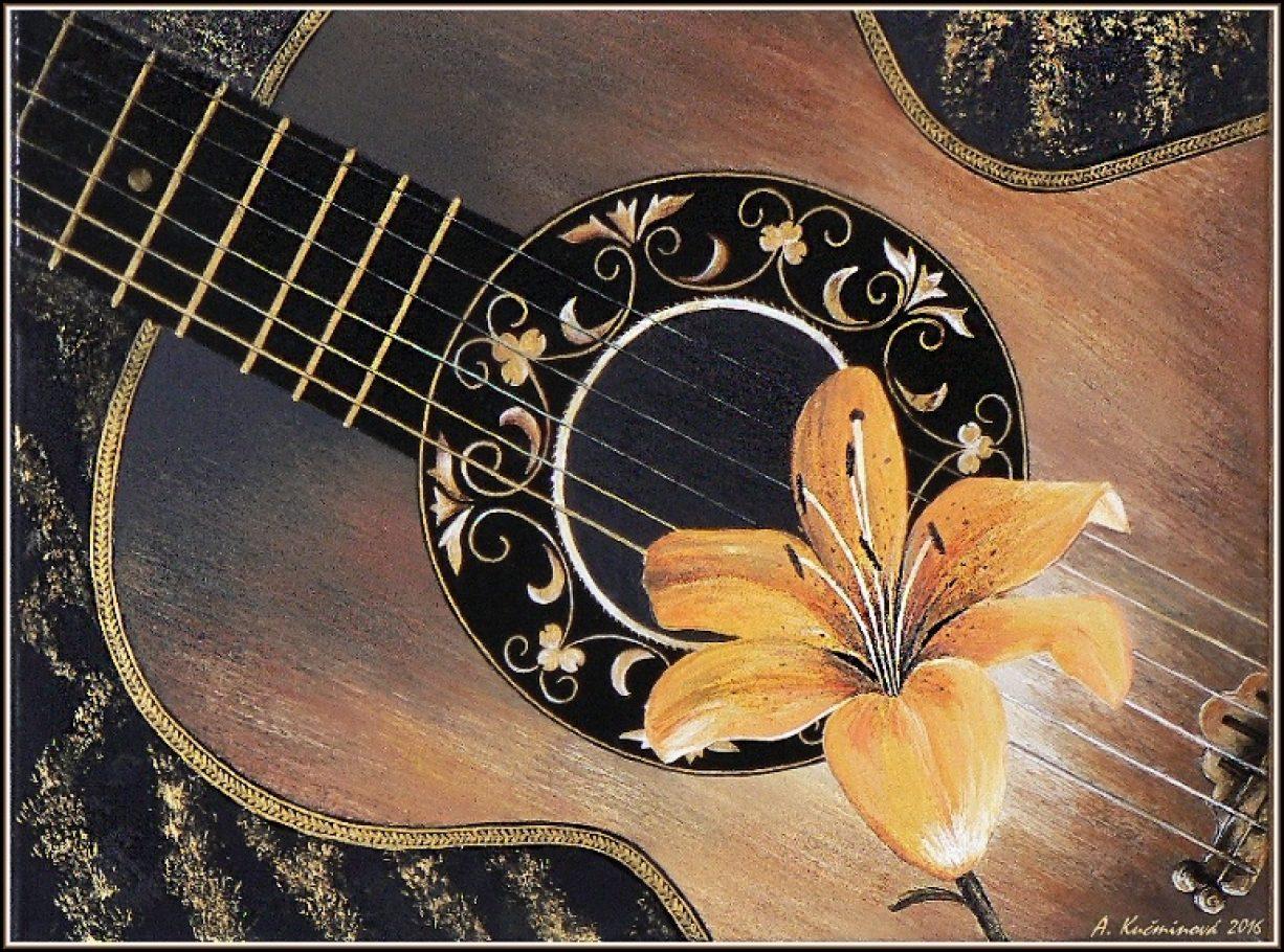 hudobný motív 50x70, Akryl