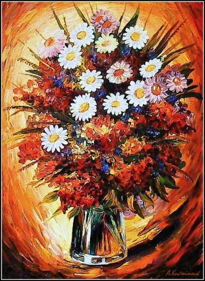 Maľby predaj a tvorba obrazov - KVETY - KYTICE