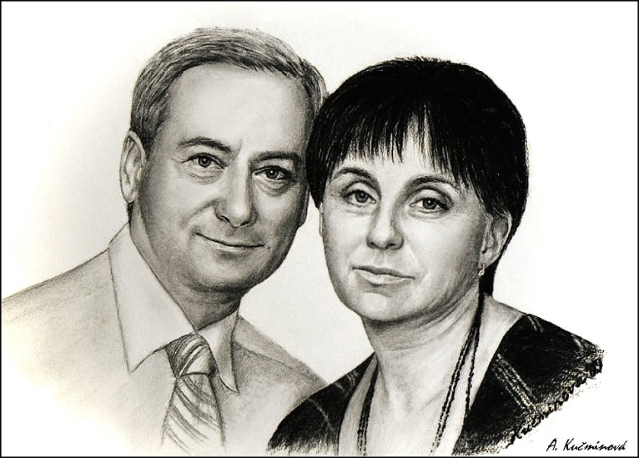 manželia obraz ku jubileu 50x70cm _uhlíkmanželia obraz ku jubileu 50x70cm _uhlík