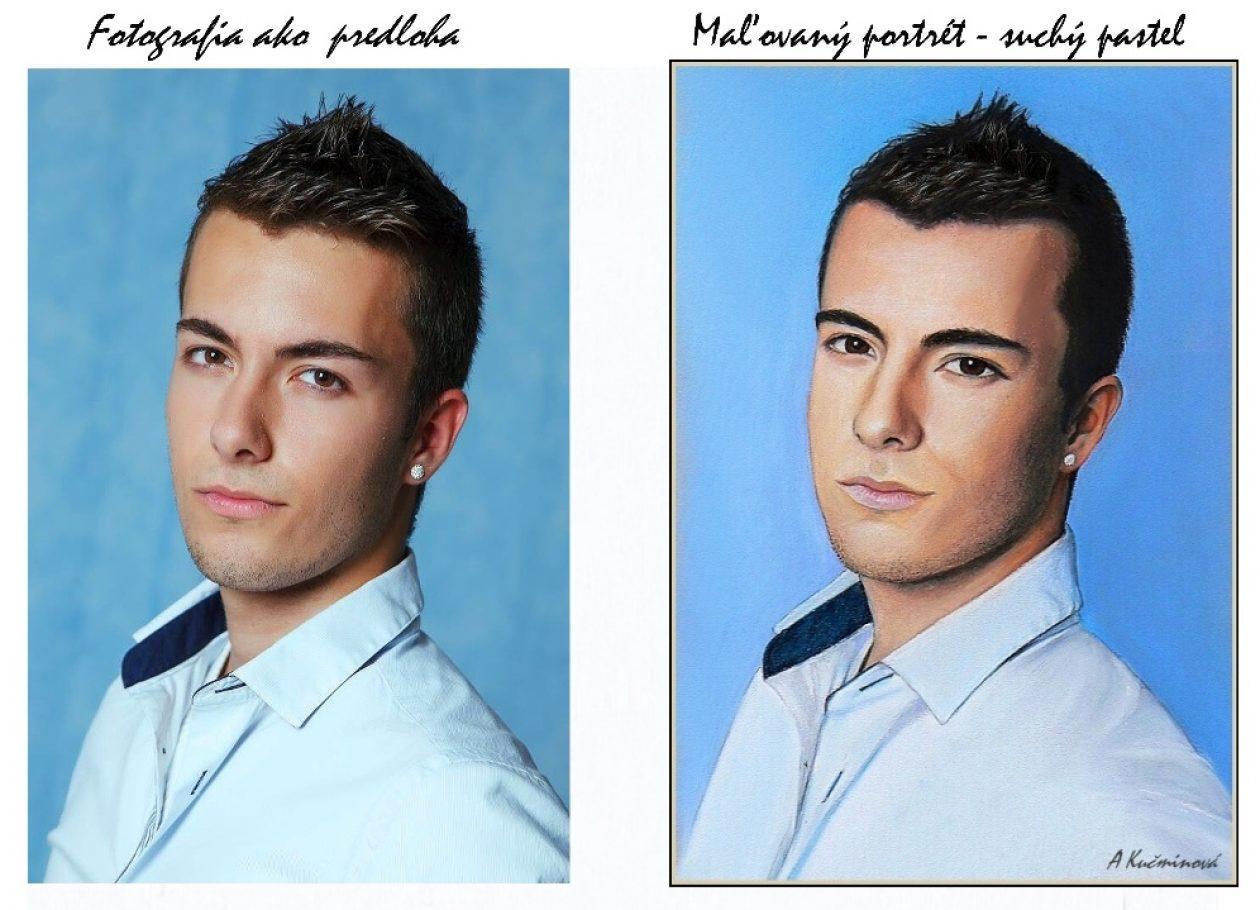 mládenec fotka = maľba A3
