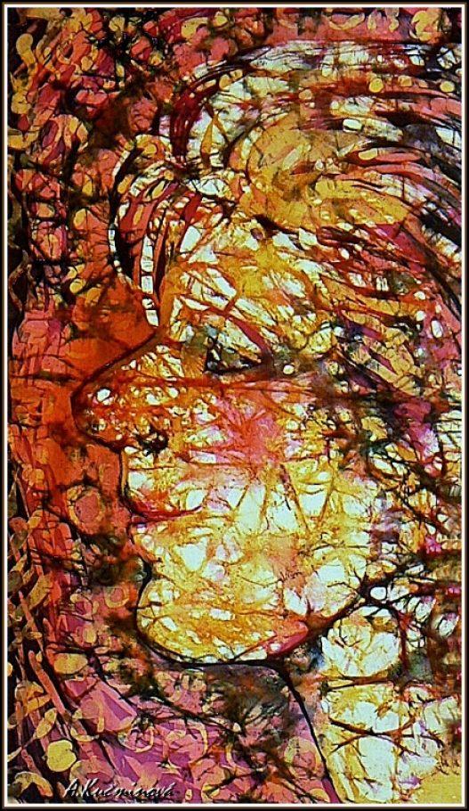 mládenec-maľba na hodváb